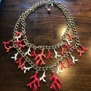 Lilly Pulitzer Good Reef Statement Necklace Coral